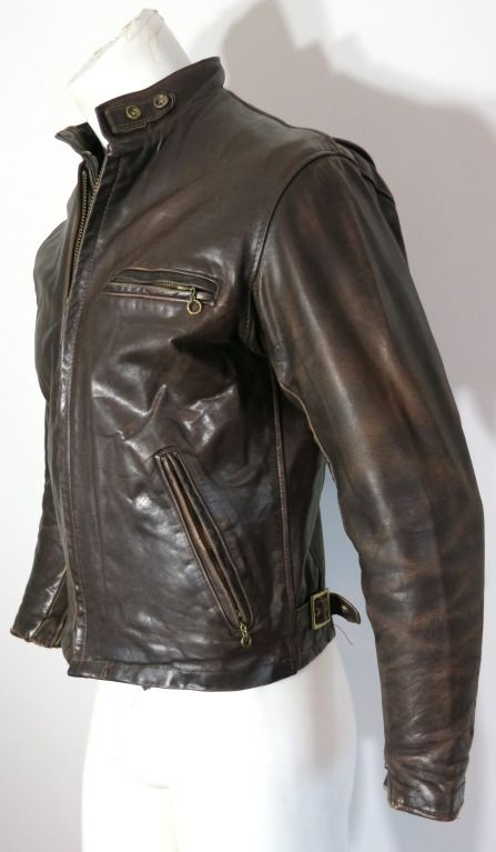 Vintage Schott 1970 S Men S Rugged Cafe Racer Motorcycle Jacket 141 3 Leather Jacket Men Jackets Men Fashion Leather Jacket Men Style