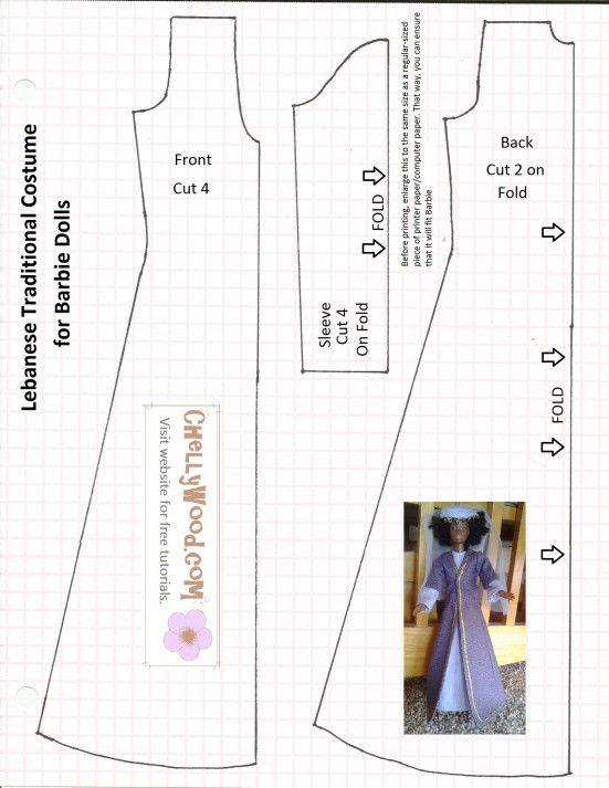 Resultado de imagem para Barbie Clothes Free Sewing Patterns Free ...