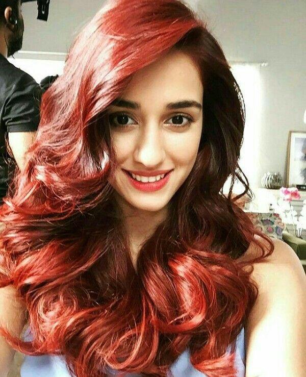 Disha Patani With Red Hair Disha Patani Photoshoot Hair Styles Disha Patani