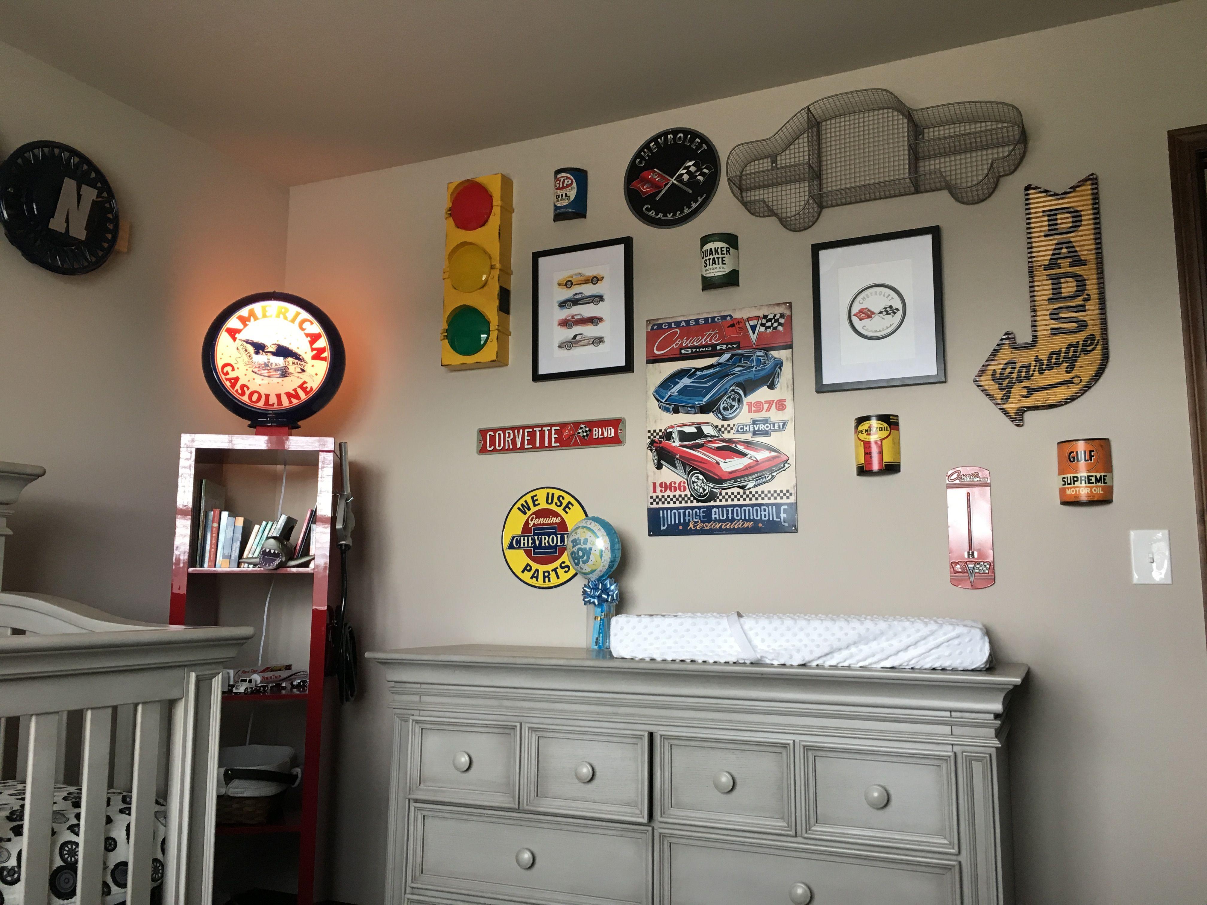 Boys Car Corvette Garage Nursery Baby Boy Room Themes Toddler