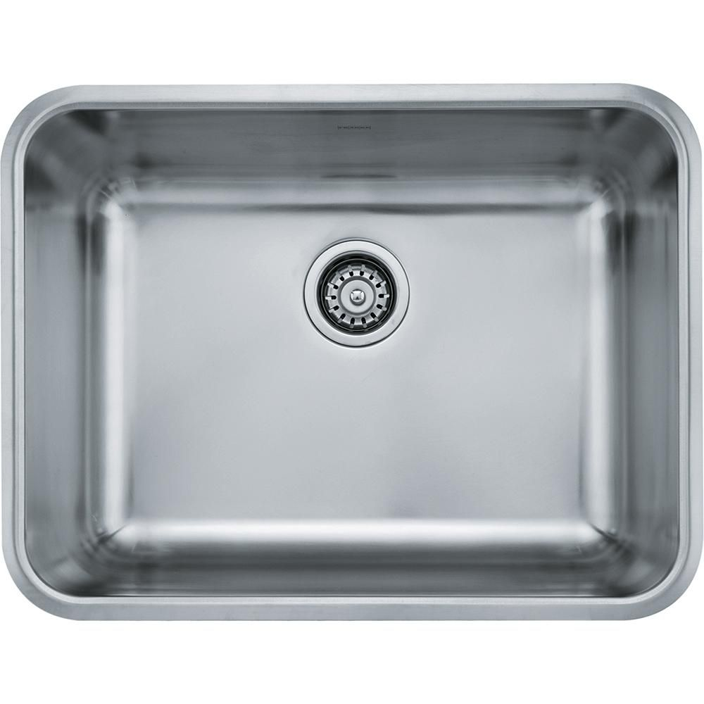 Grande 24 3 4 Stainless Steel Undermount Kitchen Sink Single
