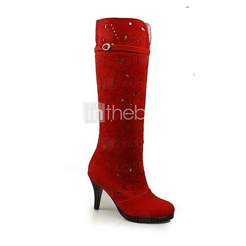 de salto alto plataforma de moda botas martin das mulheres da camurça (mais cores) - EUR € 32.99