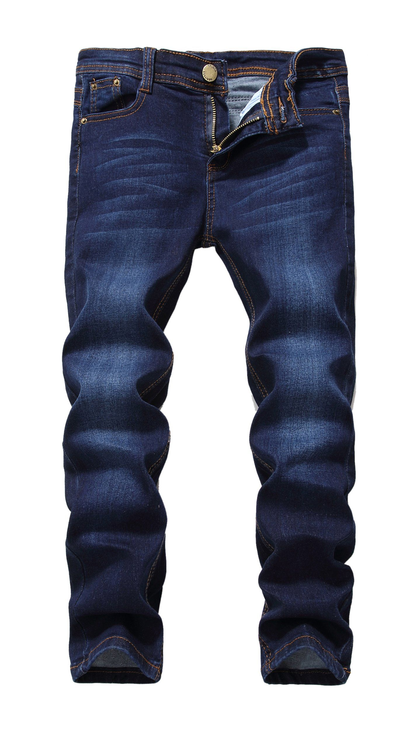 de072772168f Fredd Marshall Boys Blue Skinny Fit Stretch Slim Elastic Waist Denim Jeans  Pants For Kids 10 * Read more reviews of the product by visiting the link  on the ...