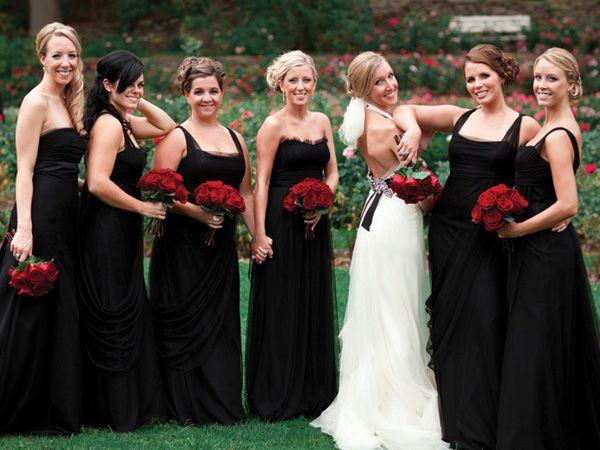 Vestidos de dama de honor negro