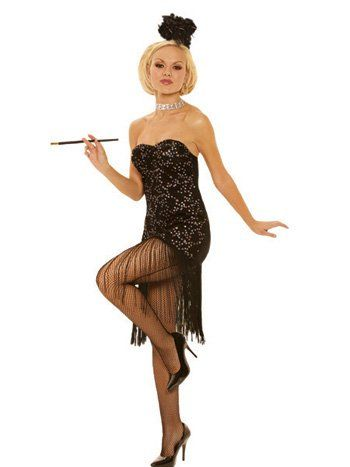 21b1f7fe8e04 free shipping~foxy flapper adult costume + hose in 2019 | Costume ...