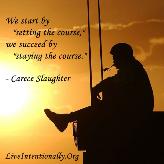 Inspirational Quote We Start By Setting The Course We Succeed By