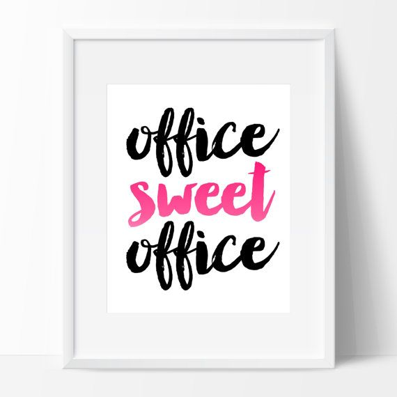 Office Sweet Office Sign Instant Download Calligraphy Print DIY