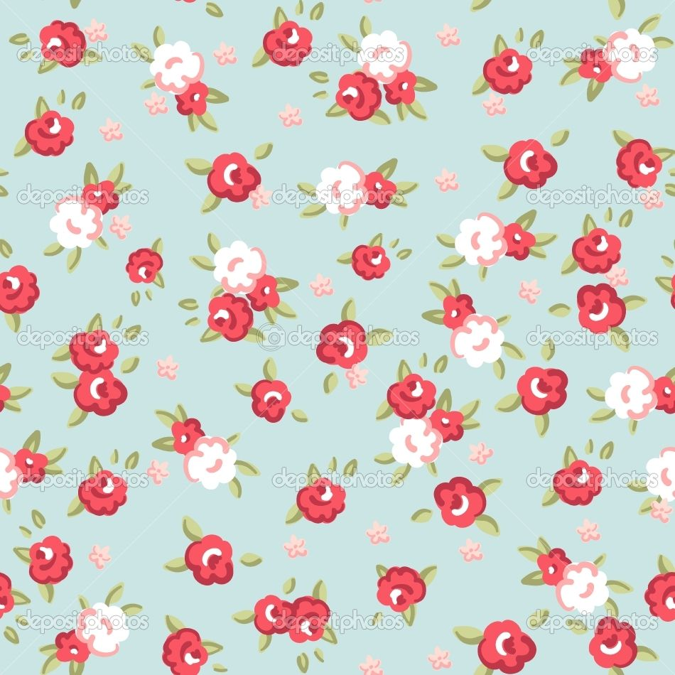 Home Wallpaper Pattern english rose, seamless wallpaper pattern with pink roses on blue