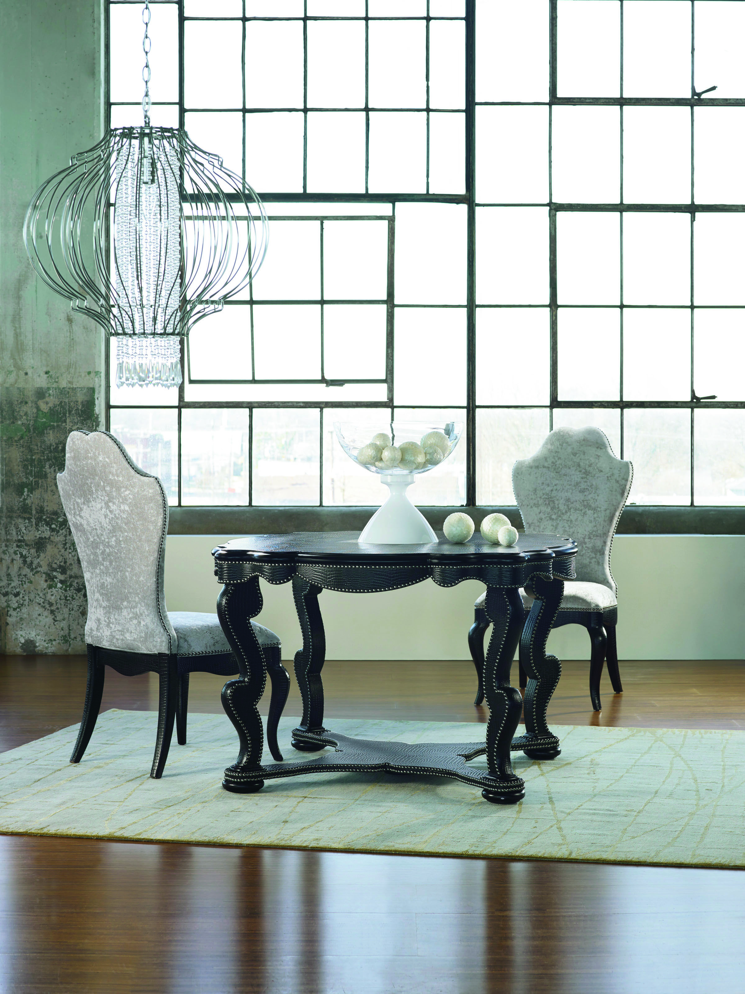 M 233 Lange Bohemian Black Croc Dining Table M 233 Lange Bedroom