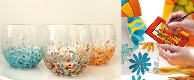 Decorar y pintar vidrio arte y manualidades pinterest - Manualidades para casa rustica ...