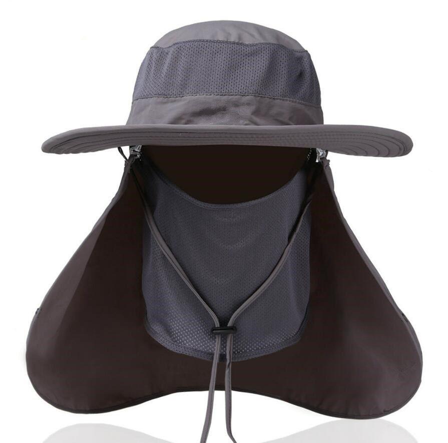 b6e4396fac1 Hot Sell Sun Hats Mens Large Round Brim Unisex Block Quick Drying Fishing  Hat Summer Cap