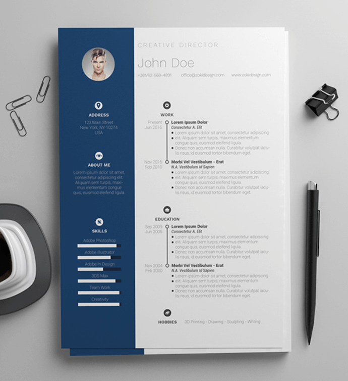 25 free resume templates for microsoft word (& how to make headline customer service manager application letter graphic artist career objective 5 years experience