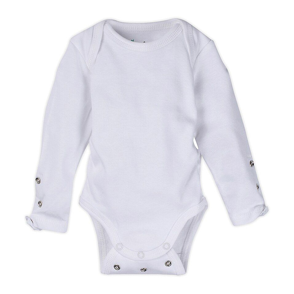 Miraclewear Posheez Size 12M Snap'n Grow Long Sleeve Bodysuit In White - This MiracleWear Posheez Snap'n Grow Long Sleeve Bodysuit adjusts with your little angel as she grows. Its super-soft design features rows of snaps and elastic sides for flexible comfort. It offers up to 6 months of use per size for convenience.