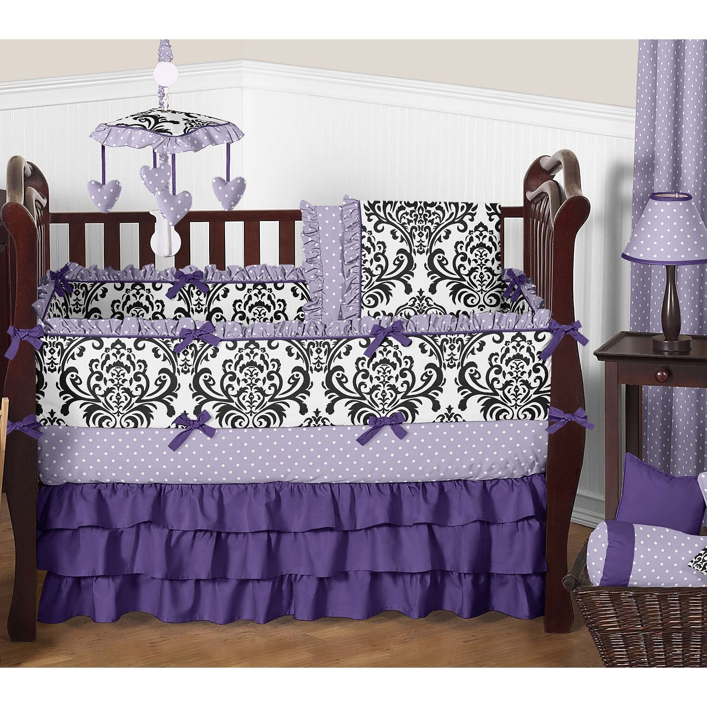 and chic baby bedding piece crib designs damask with alexa girls sweet cribs sets white beautiful stunning butterfly pink shabby bumper set jojo gray