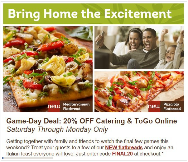 FreeSwagFromezSwag OliveGarden has a MarchMadness promo