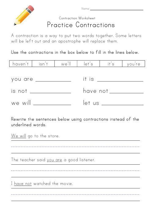 Pin On Contractions