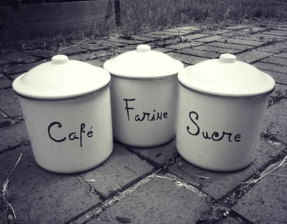 Cafe Farine And Sucre French Vintage Style Metal