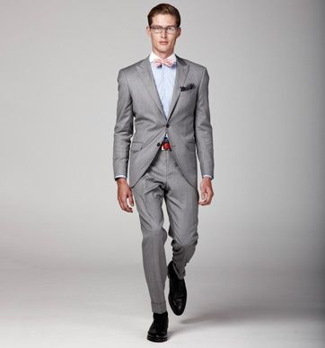 grey suit with bow tie - Google Search | Grey Suit Looks ...