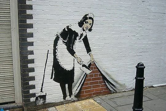 Banksy Graffiti Is So Awesome Schablonengraffiti Stencil Street Art Schablonenkunst