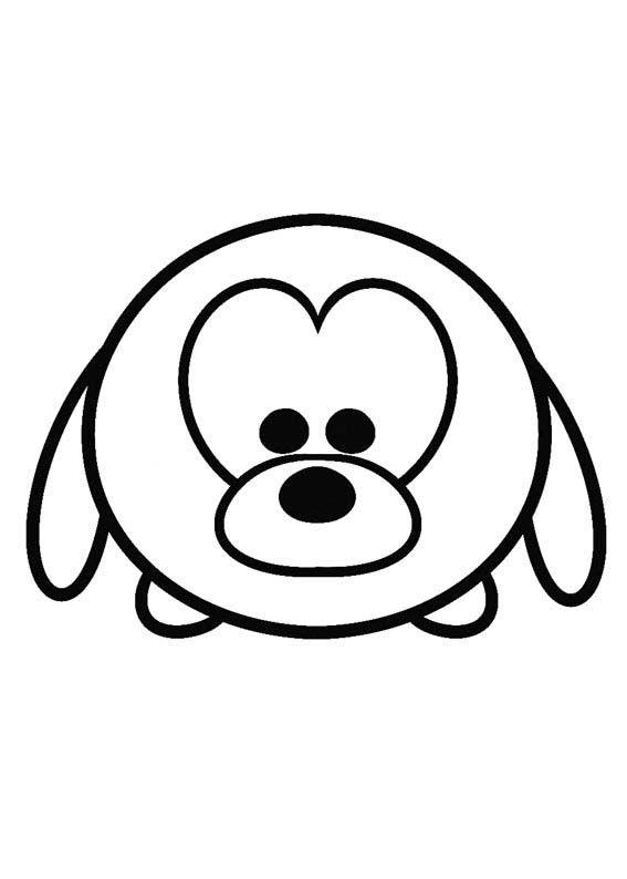 Disney Tsum Tsum Para Colorear Pluto Mikey Tsum Tsum Para