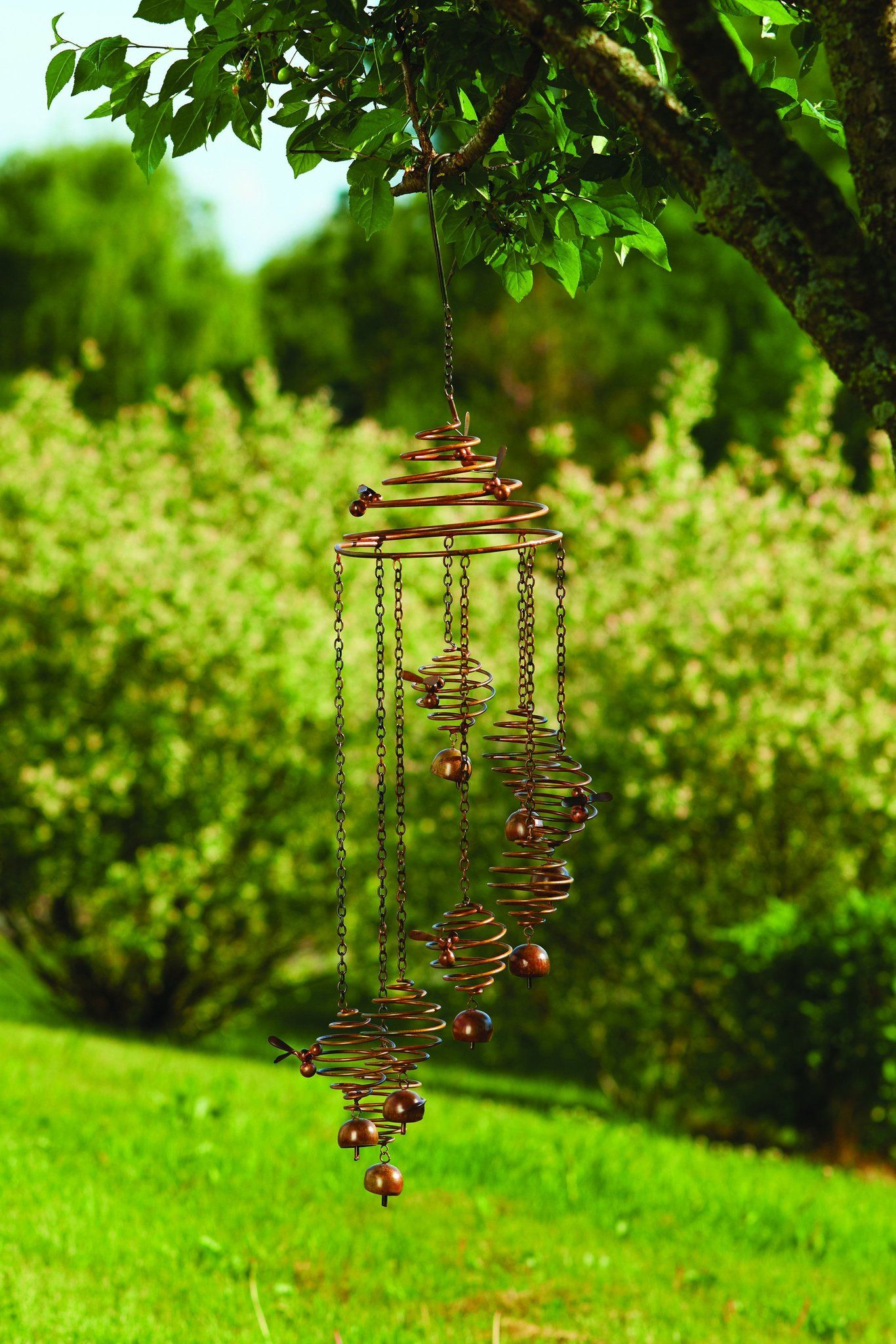 Bee Spiral With Bells Mobile Wind Chime Wind Chimes Circle