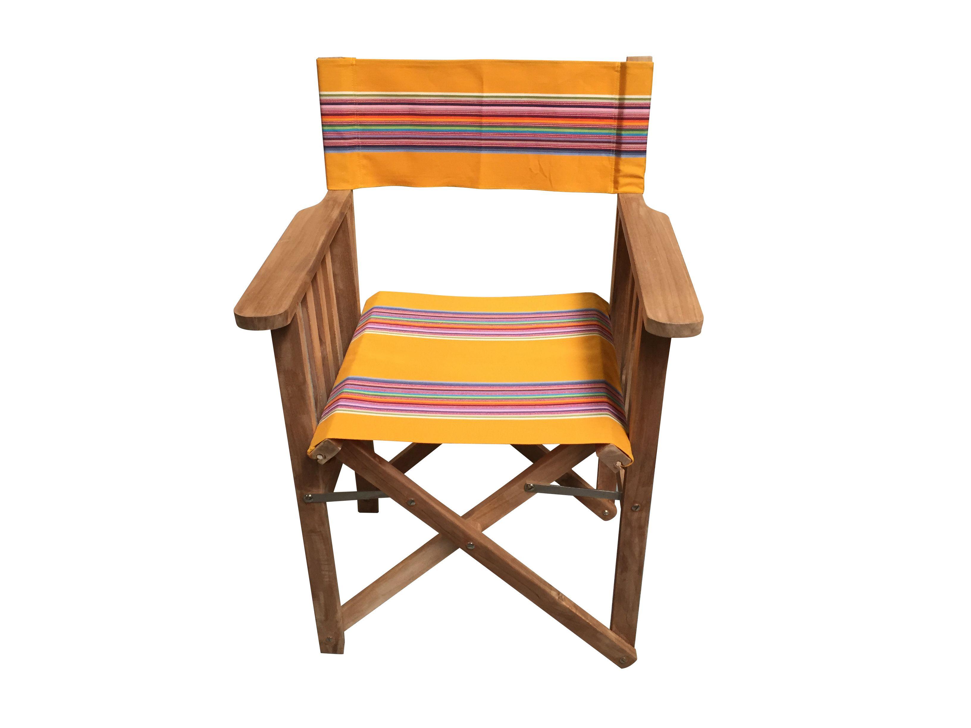 Teak Directors Chair Butterfly Yellow Stripe Chair Folding Garden Chairs Deck Chairs