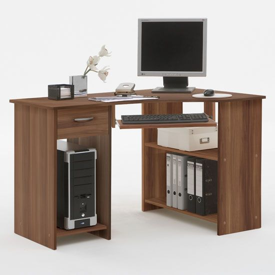 Office & Workspace, Creative Storage Idea On Home Computer Desks Unit Equipped With Unique Design With Floral Decorating IDea: Sweet Home Computer Desks as the Nice Furniture House Office Concept