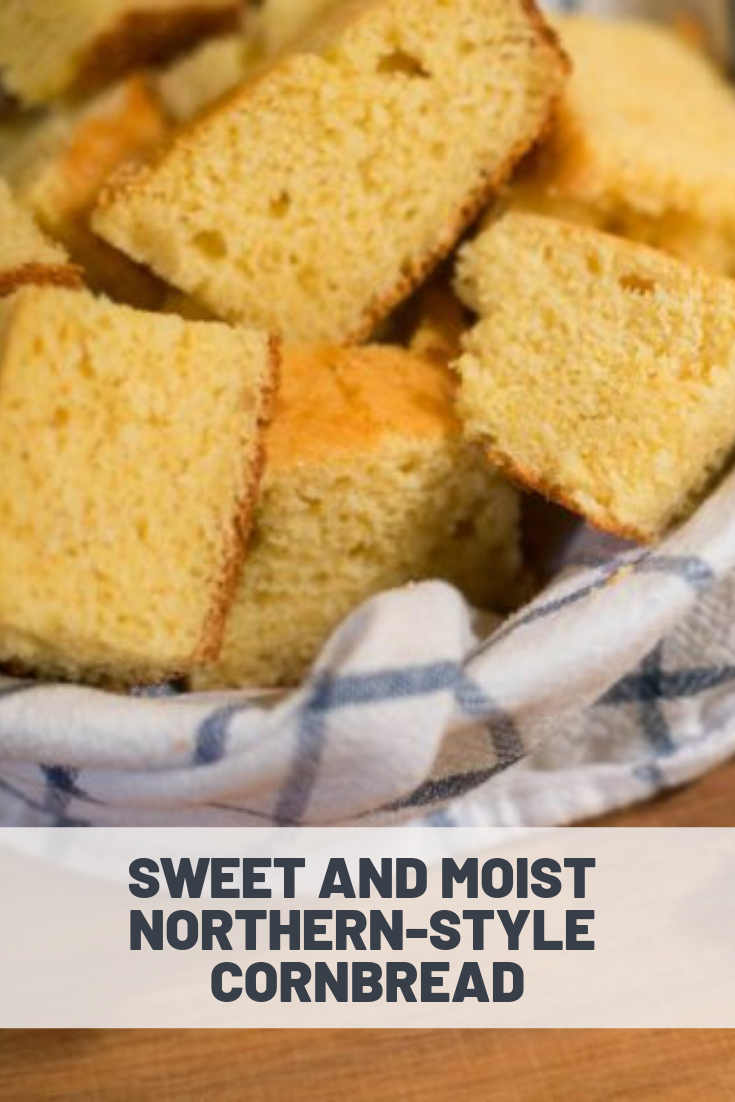 Sweet And Moist Northern Style Cornbread Recipe Recipes Cornbread Corn Bread Recipe