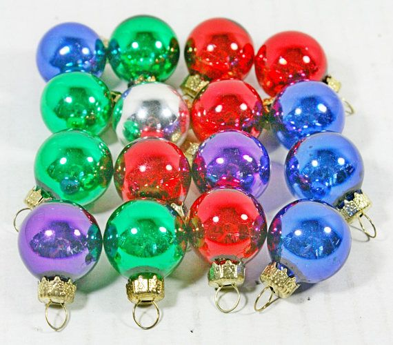 Marble Balls Decoration Lot Of 16 Small Multicolor Christmas Ornament Balls Measurements
