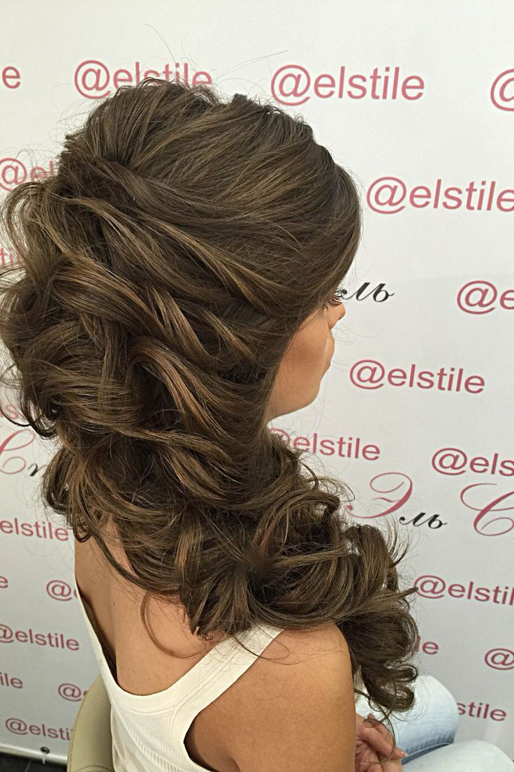 Lovely Bridal Look Make Up Hairstyles Bridal Hair Inspiration Hair Styles Curly Hair Styles