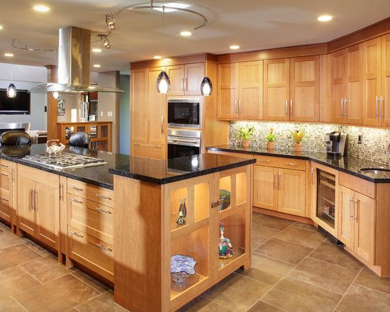 Elegant Wooden Furniture Design For Modern Kitchen Gorgeous Kitchen Light Oak Cabinet