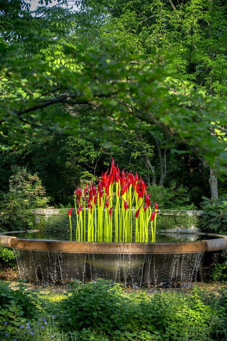 Atlanta Botanical Garden Dale Chihuly | Art Review: U0027Chihuly In The Gardenu0027  At