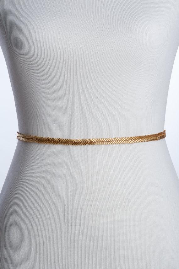 skinny gold bridal belt thin bridal sash belts wedding. Black Bedroom Furniture Sets. Home Design Ideas