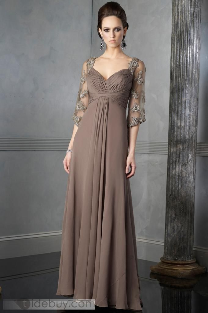 56003d92f3d Gorgeous Empire Sweetheart Floor-Length Chiffon Mother of the Bride Dresses  (3E0150) (Free Shipping)