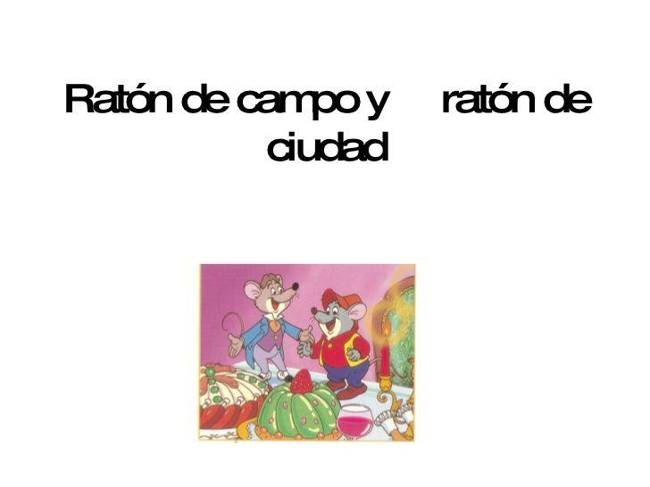 Ratón de campo y ratón de ciudad   actividades   Pinterest   De ...