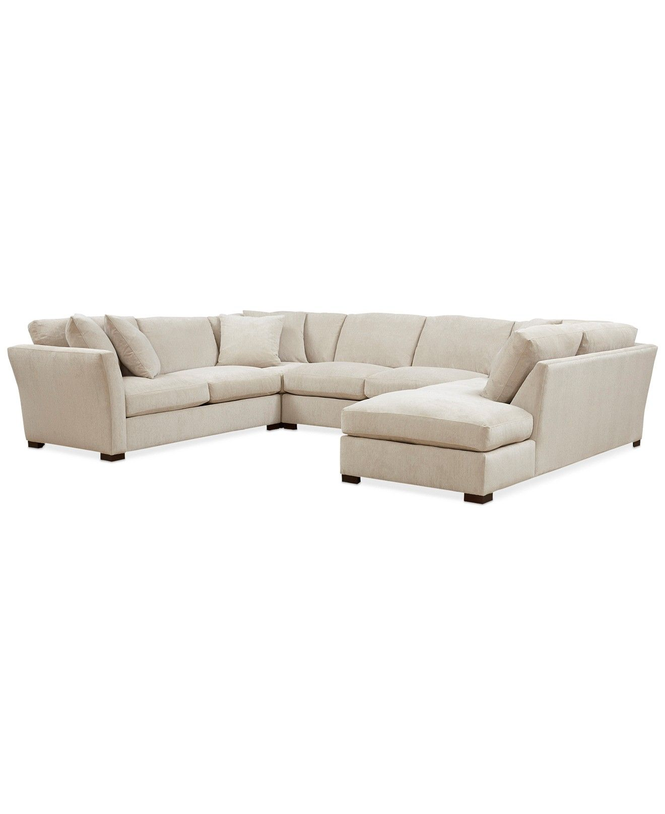 Best Myles Fabric 4 Piece Daybed Sectional Sofa Sectional 400 x 300