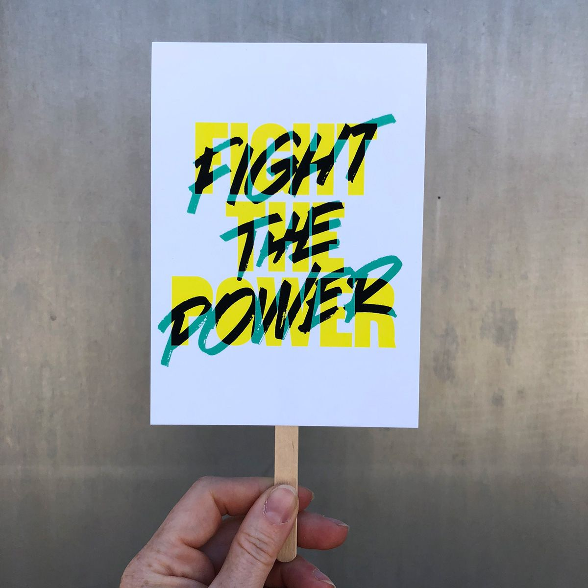 Mini Protest Signs On Behance Protest Signs Protest Posters Lettering