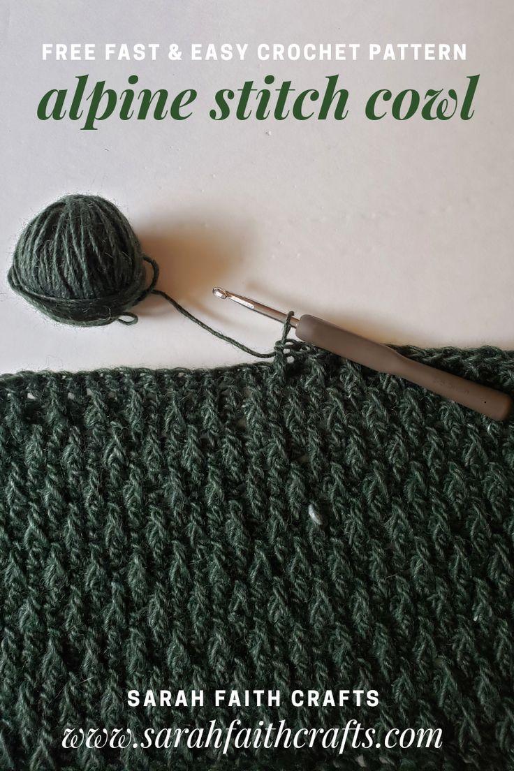 Free Crochet Pattern - Alpine Stitch Cowl