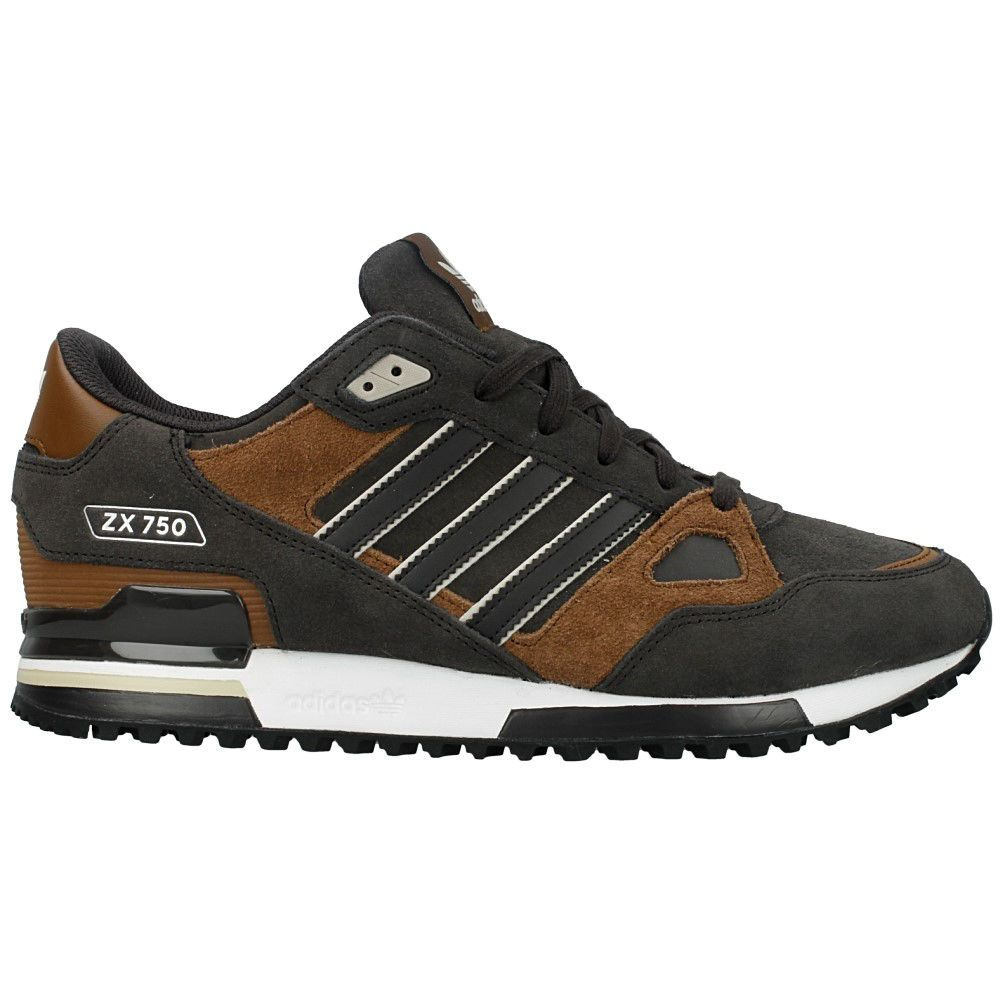Details about Mens Kids Adidas Originals ZX 750 Brown