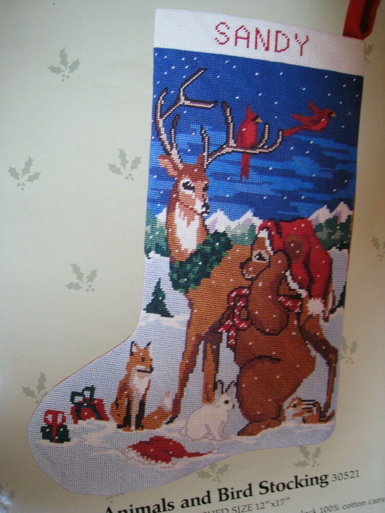 Details about candamar christmas needlepoint stocking