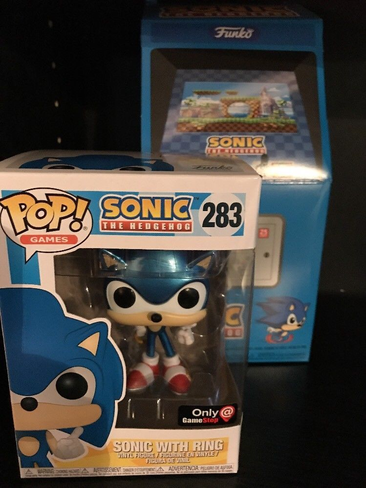 Funko Pop Sonic The Hedgehog Gamestop Exclusive Pop Tee And Metallic Pop Sz L Afflink Funko Funko Pop Sonic The Hedgehog