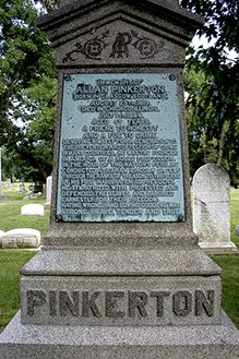 Allan Pinkerton's Headstone