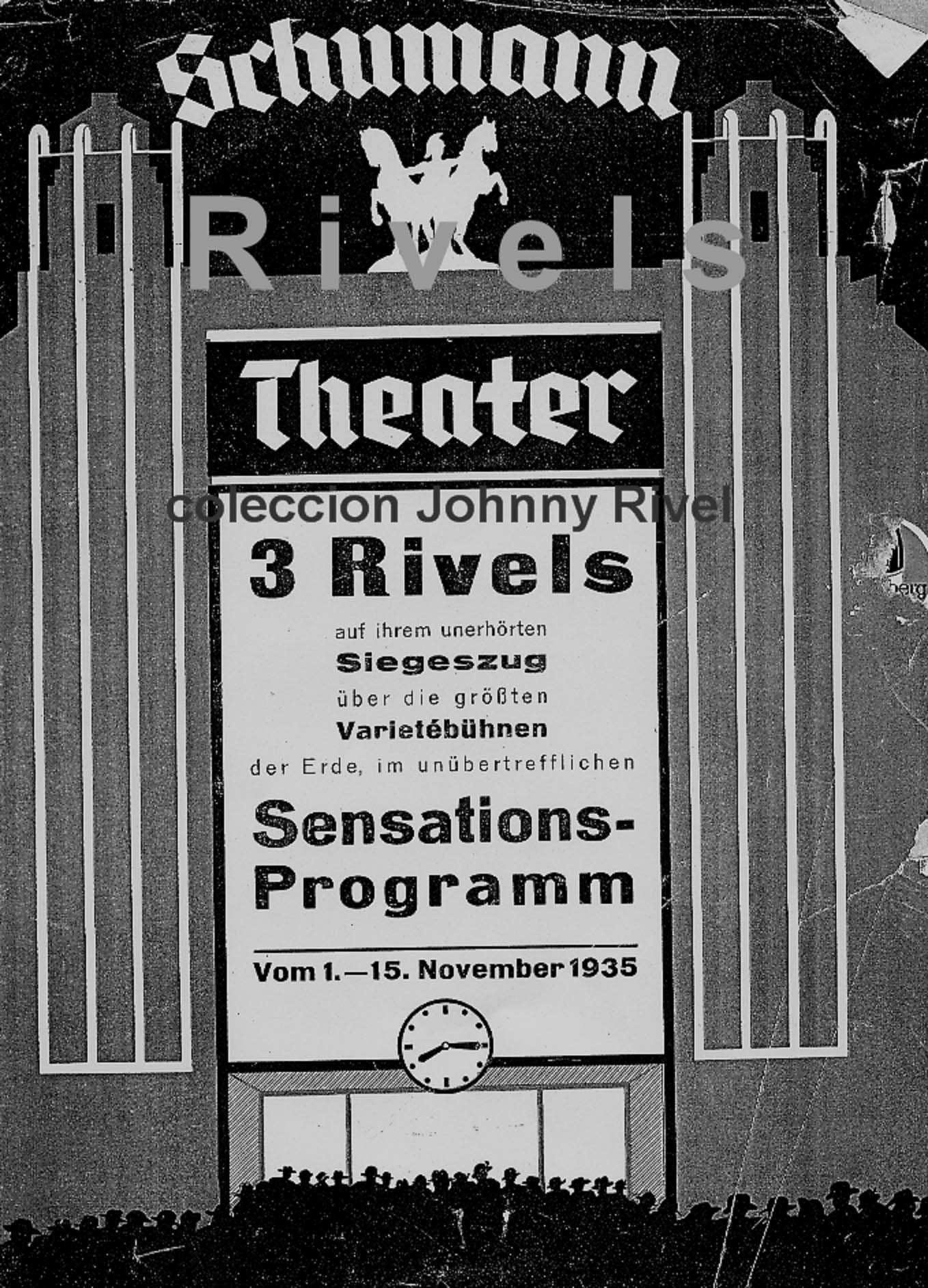 schumann theater 1935  3 Rivels Polo Rene Charlie  Foto Colecion Johnny Rivel www.andreu-rivel.com
