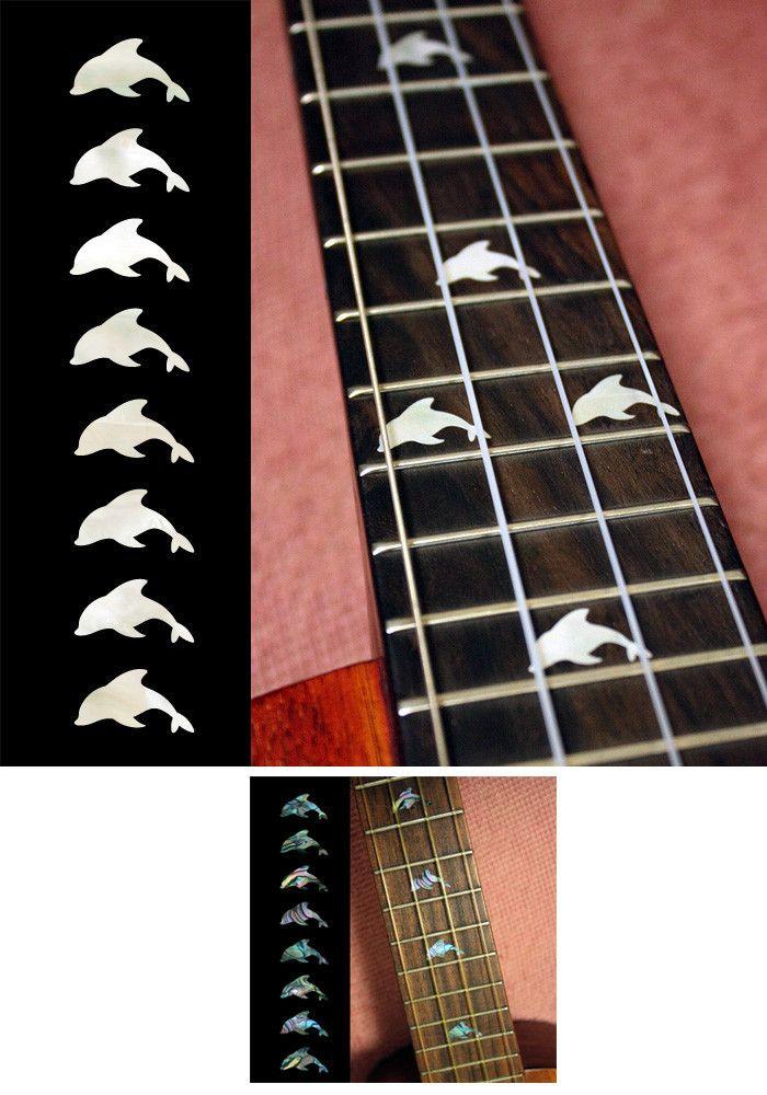 Dolphins Fret Markers For Ukulele Inlay Stickers Decals Ukulele