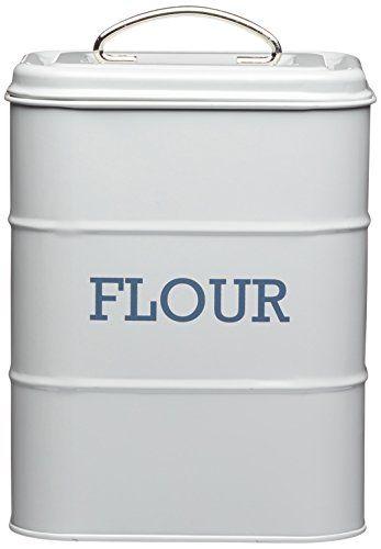 17 X 12 X 24cm Grey Living Nostalgia Flour Canister Kitch Https