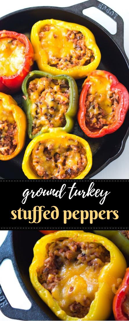 Ground Turkey Stuffed Peppers Diet Healthyrecipe Stuffed Peppers Food Recipes Cooking Recipes
