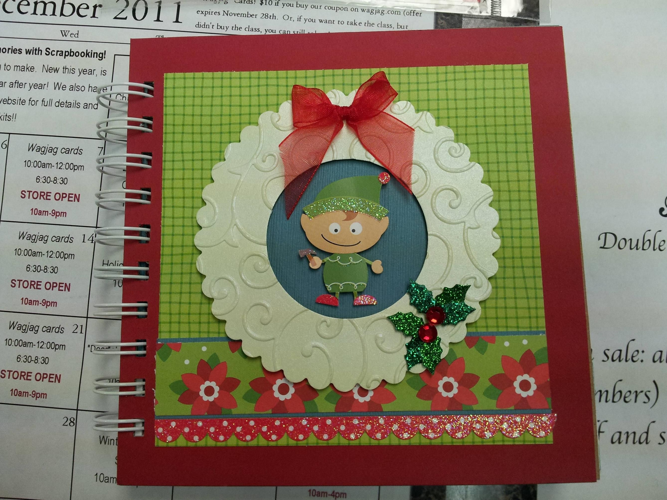 Making Memories With Scrapbooking Christmas book class