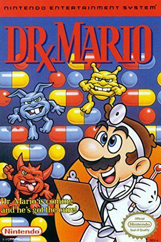 Dr Mario Super Nintendo Nes Game Series Box Art Yoshi Luigi Princess