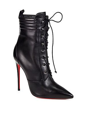 Christian Louboutin Mado Leather Lace-Up Ankle Boots