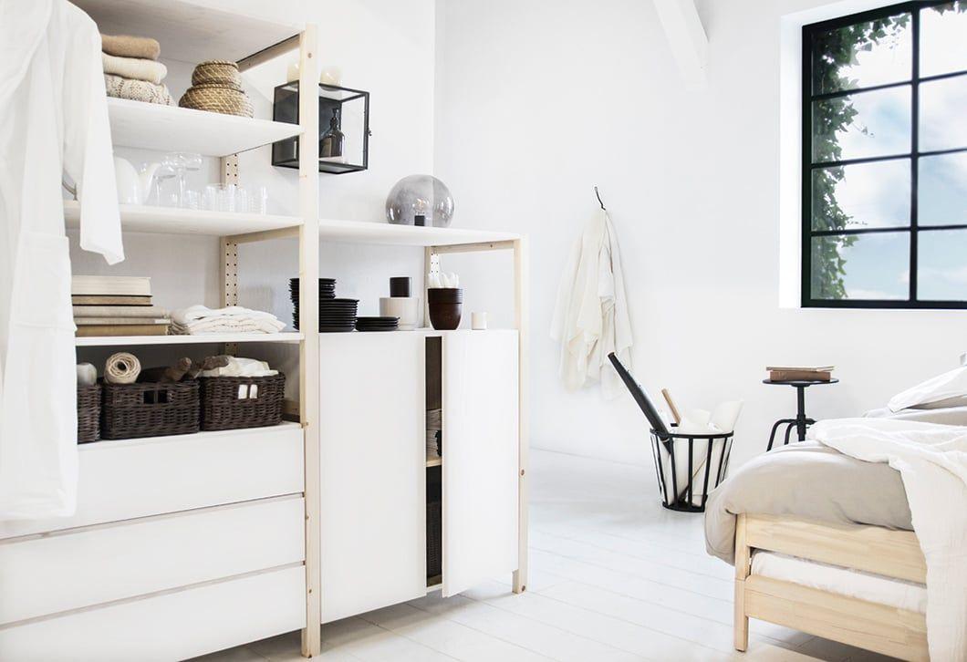 Witte Kast Ikea : Witte open kast voor schuine dak ivar ikea ikea hacks pinterest